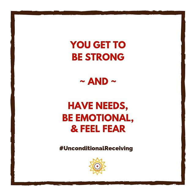 You are not weak because you have needs, feel fear or get emotional. These behaviors do not diminish your strength.  To make the impact we desire as Creative Leaders, we need to be in harmony with ourselves. Who we're being is as important as what we do.  When you try to be strong at the expense of your physical and emotional needs - because that's what you learned you needed to do overcome feeling not-enough -  you perpetuate that sense of lack within and create inner turmoil. Then you constantly try to overcome that feeling of lack and inner turmoil by trying to be stronger, taking on more, and ignoring your needs. It creates a vicious cycle of never fully having your emotional, physical and spiritual needs met. It's stressful and exhausting.  According to my Unconditional Receiving framework, this way of being is what I call the No-Needer Conditional Receiver. No-Needers believe that they need to suck it up and be stronger by taking on more responsibility when things aren't working out in hopes that it will eventually work out. And while they may have fixed the external circumstance, they continue to abandon themselves in the process. And in abandoning themselves, they and the people they want to contribute to, miss out on the impact anyone makes when they are fully present and connected.  Think about how you're affected when you spend just a little bit of time with a happy baby. He or she may not be doing much for you but their beingness changes you.  This is the kind of impact you too can receive and give when you receive yourself unconditionally. You can get started by scheduling a Path to Unconditional Receiving session. (link in bio)  Do you allow yourself to be strong AND have needs? Or do you tend to put other people's needs first?