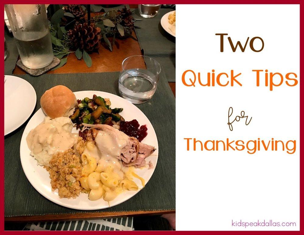 Two quick tips for thanksgiving kidspeak forumfinder Images