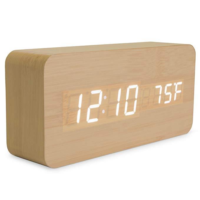 Bamboo Alarm Clock