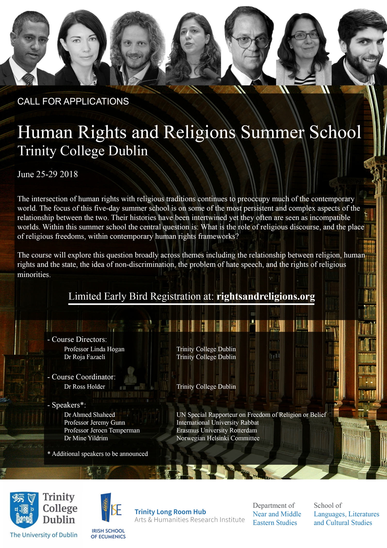 Registration for the 2018 Human Rights and Religions Summer