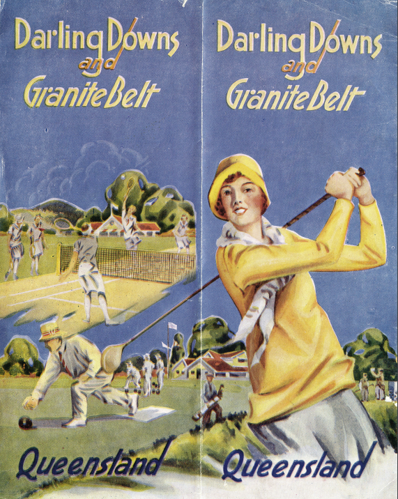 Back cover of a  tourism bookle t from about 1931, image courtesy of the John Oxley Library