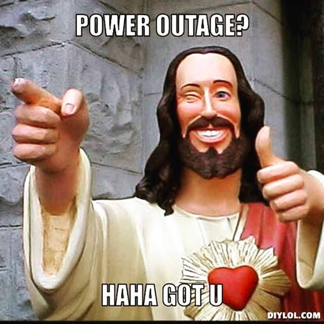 Jesus to the rescue the POWER is back ON. We will open at 5:00pm. Come start your weekend right @rustedmule. . . . . #jesustotherescue #sfcocktails #sfbartenders #usbgsf #rustedmule #drinkingmadeeasy #itsfridaynight #cocktailporn🍹 #cocktail #rustedmulesf #noonemesseswiththejesus #wegotyou #drinkandplay