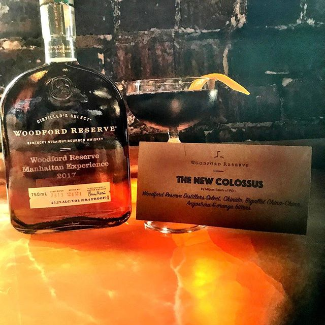 @rustedmule We are featuring @miguelsalehi  from @pch580 the @woodfordreserve Manhattan Challenge National Winner. The New Colossus #sfbars #sfcocktails #sfbartenders #woodfordreserve #rustedmule #rustedmulesf #whiskey @gregwxyz #pchsf #cityofchampions #usbgf #bartenderlife #barlife