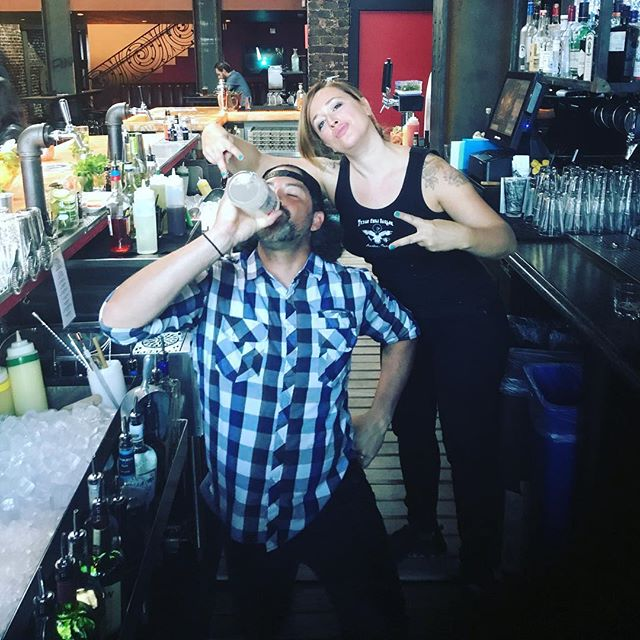 When @westcoastrhummer shows up to work late on his first shift. Don't worry we got you. @smirnoff_ice_challenge. Mom and Dad are gone so a lil fun must be had.... #rustedmulesf #sfbartenders #werhumtheworld #iceicebaby #theygotme #bartenderlife #wegotyou #family #rustedmulebar