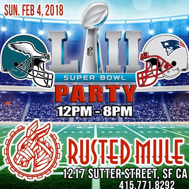Game day and Half-Time specials! Watch the Super Bowl with friends