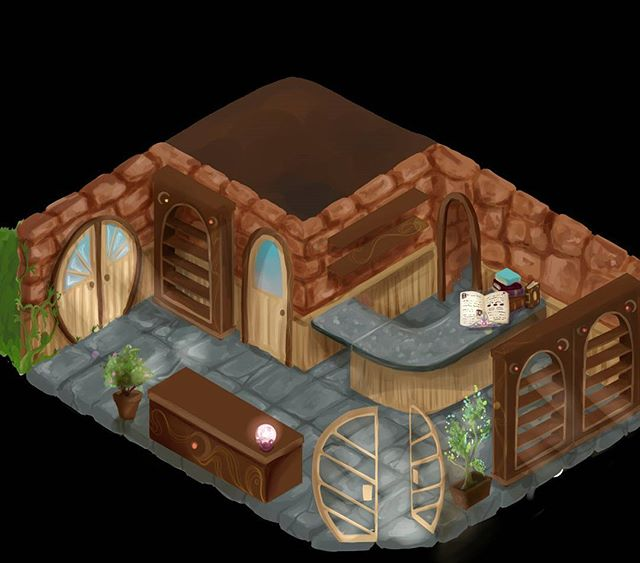 The Shop 😄 This is your home where you interact with your customers and receive your Dream Commissions 🔮 @thebestkindofmad has been working hard on painting this beaut and it's now finished - excellent job! 😎 it's all coming together 💪 #art #artist #artistoninstagram #digitalart  #design #FridayFeeling #friday #gamesdesign #games #indie #indiegames #indiedev #comingsoon #excitingtimesatwsa