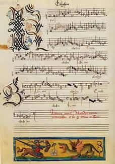 [Page from an Ockeghem Mass]