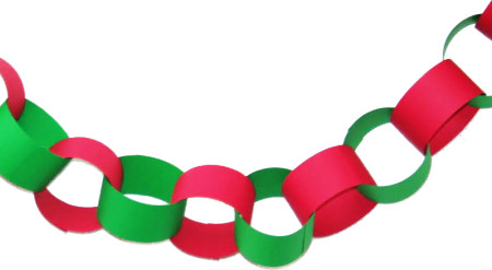 christmas garland out of construction paper - Christmas Construction Paper Crafts