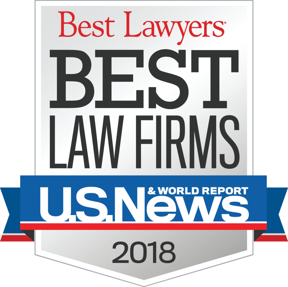 Selected as Best Lawyers Best Law Firms 2015-2018