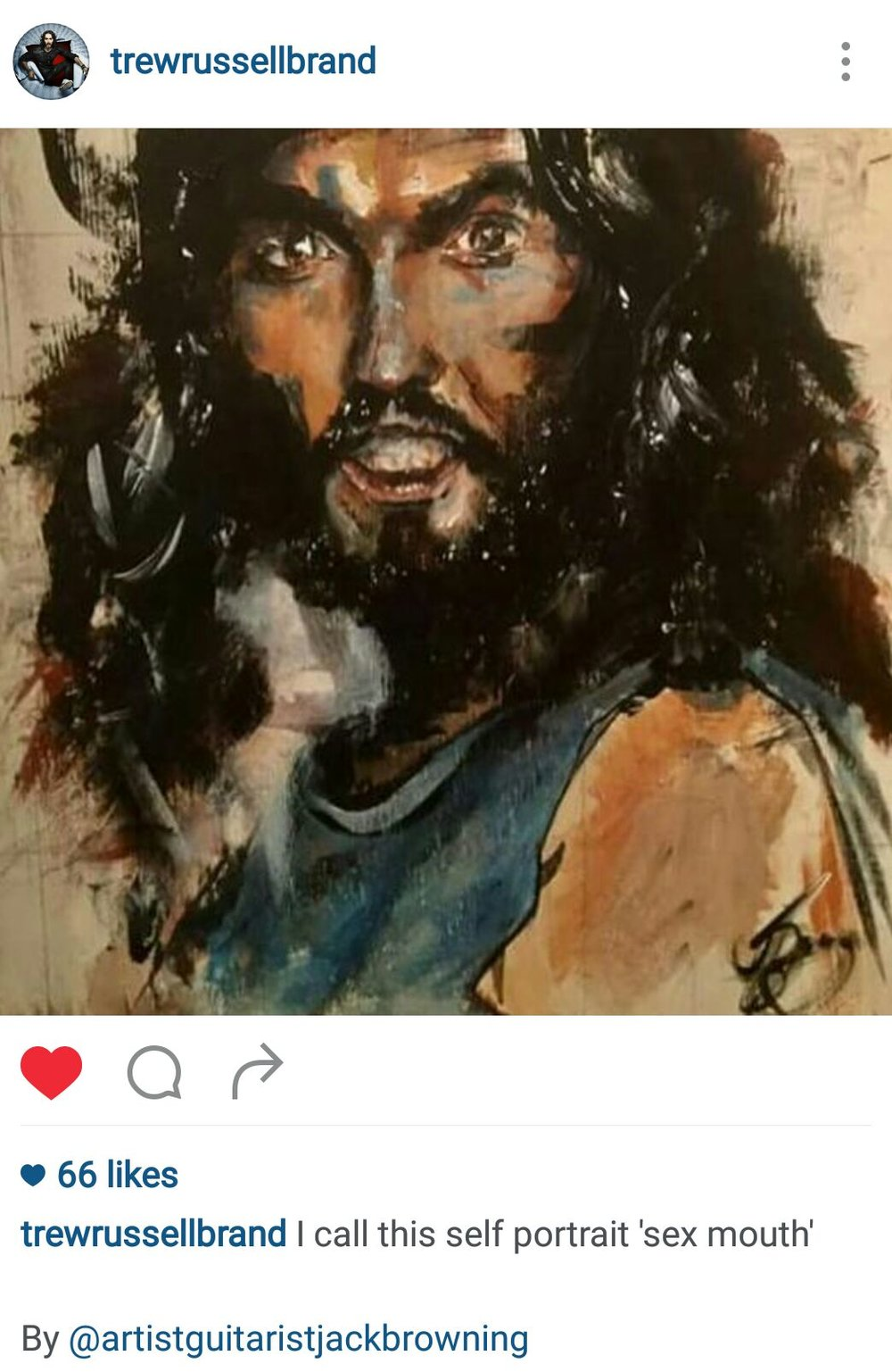 Russell Brand Shares My Work