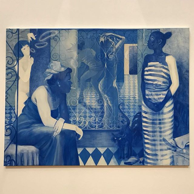 Absolutely loved Lisa Brice's show last night with #artnow at the Tate Britain, including some amazing new works inspired by works in the Museums permanent collection 💙 . . . . . #lisabrice #stephenfriedmangallery #contemporaryart #painting #arthistory #artisttowatch #blue #feminism #womenartists #exhibition