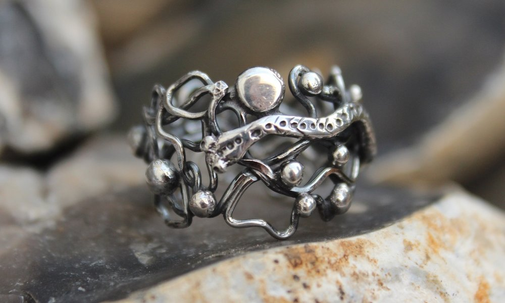 Sterling Silver Sculpted Ring