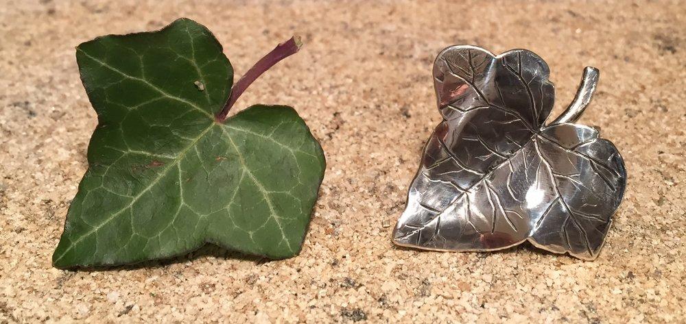 Sterling Silver Leaf Scarf Toggle