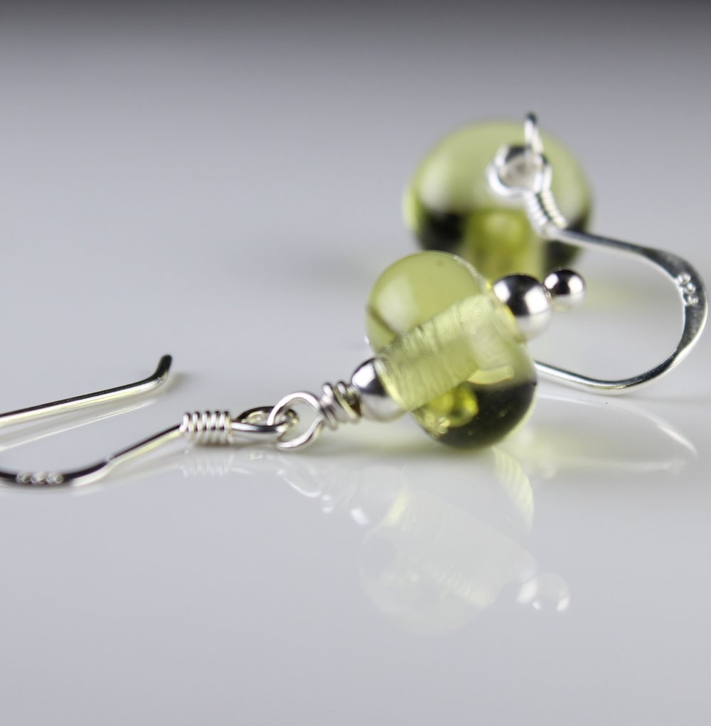 Sterling Silver and glass earrings...