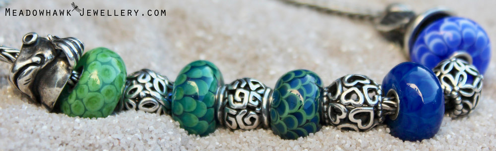 """These fishy themed beads were made to go with a special Christmas present ..."""