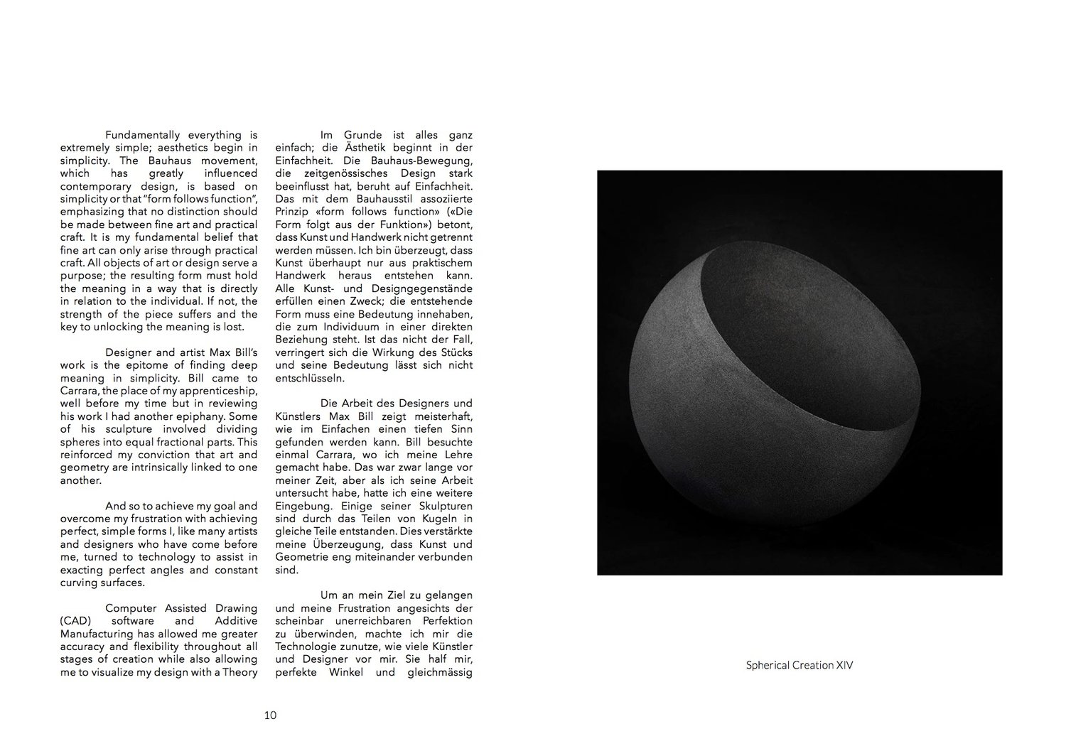 Spherical Creations Book — Dario Santacroce