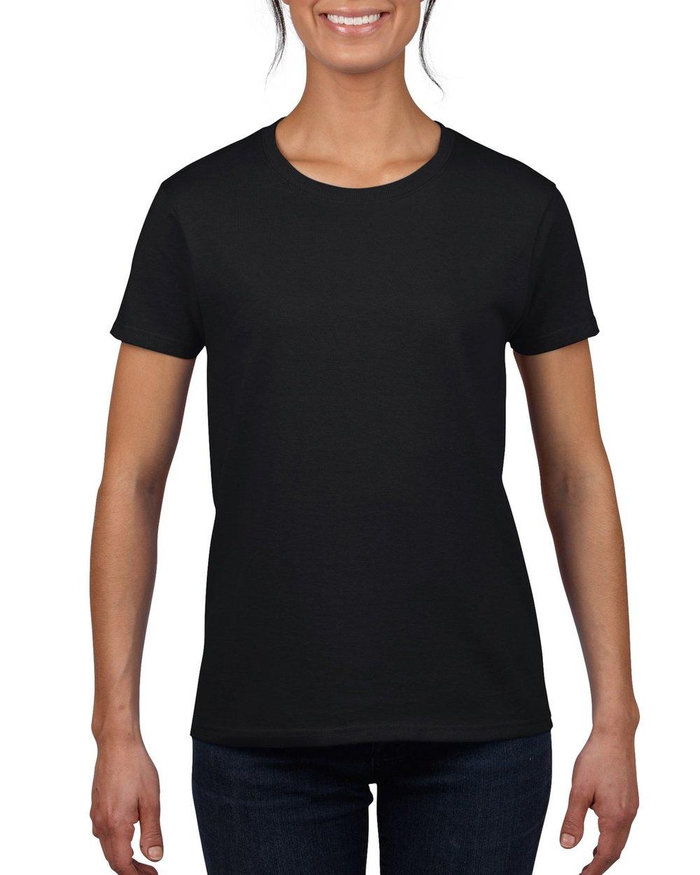woman in black gildan ultra cotton