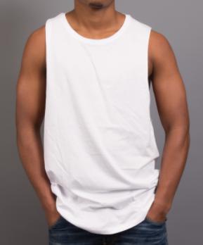 man wearing sportage action tank
