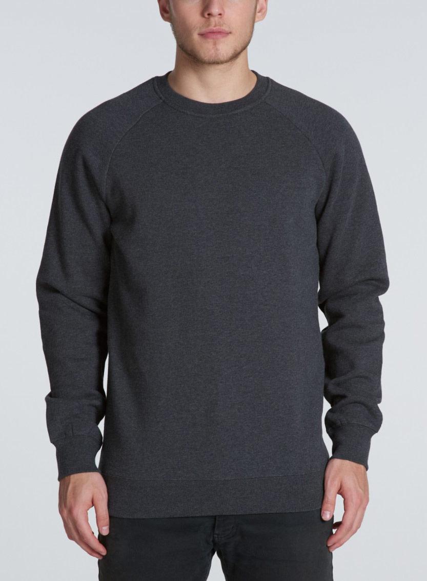 man wearing as colour box crew sweatshirt