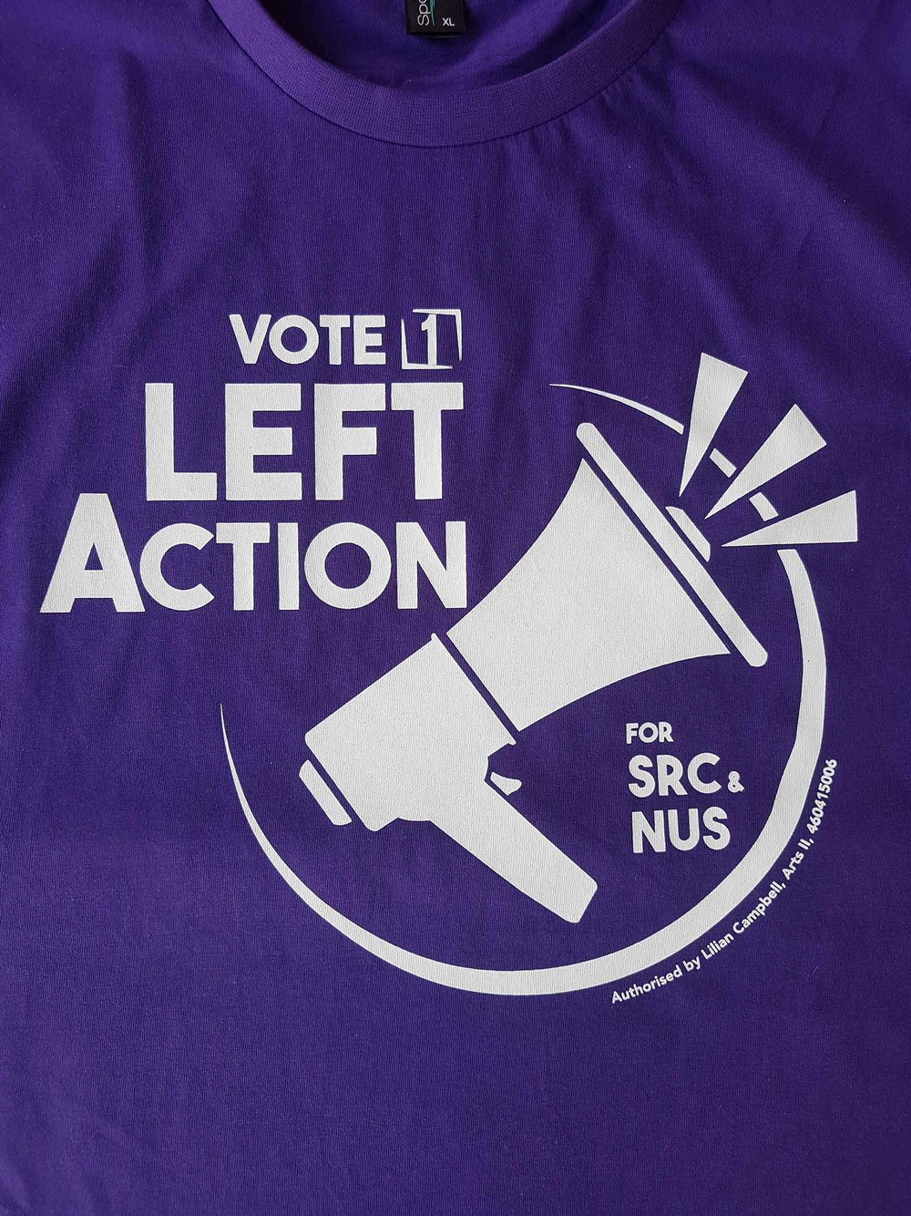 Left action t shirts