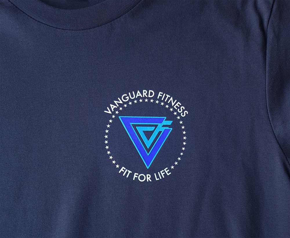 Vanguard fitness pocket logo