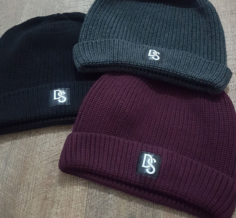 Labelled beanies for Dead Strode
