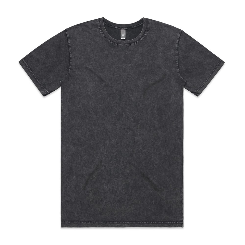 Mens Stone Wash Staple Tee 5040 - Regular Fit   Crew Neck   Mid-Weight   160 gsm   100% Combed Cotton   Preshrunk   5 Colours
