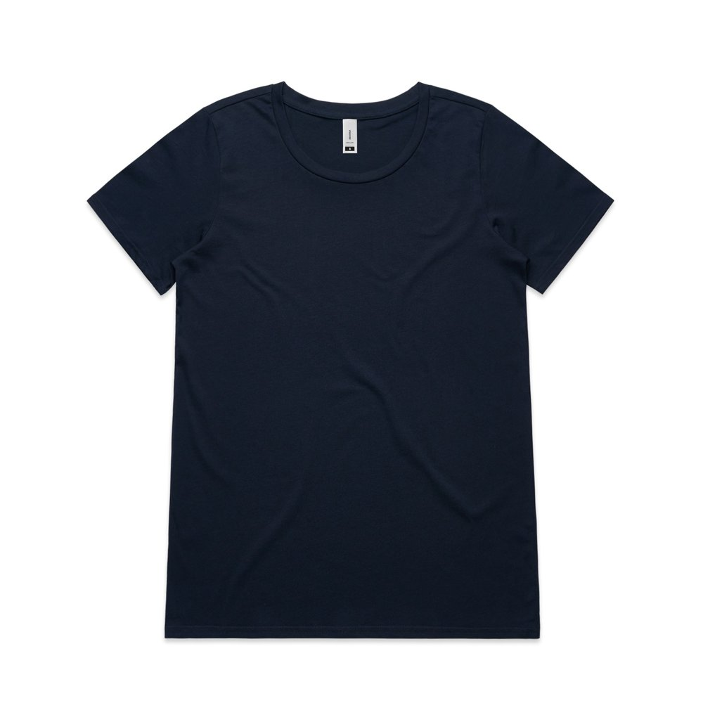 WO's Shallow Scoop Tee 4011 - Regular Fit   Scoop Neck   Light-Weight   150 gsm   100% Combed Cotton   Preshrunk   4 Colours