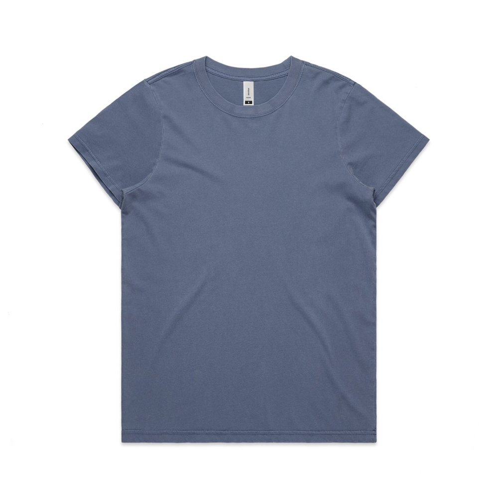 WO's Faded Tee 4065 - Relaxed Fit   Crew Neck   Mid-Weight   180 gsm   100% Combed Cotton   Preshrunk   2 Colours