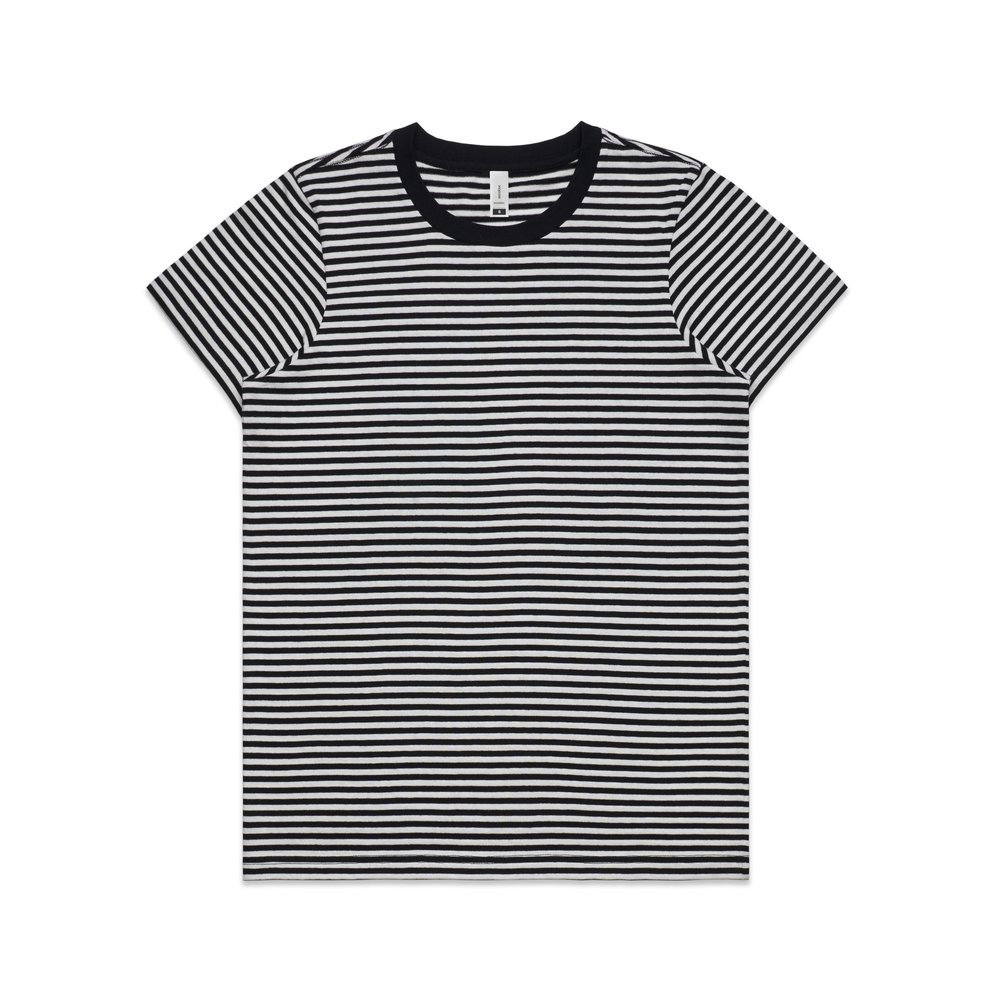 WO's Bowery Stripe Tee 4060 - Regular Fit   Crew Neck   Mid-Weight   160 gsm   100% Combed Cotton   Preshrunk   2 Colours