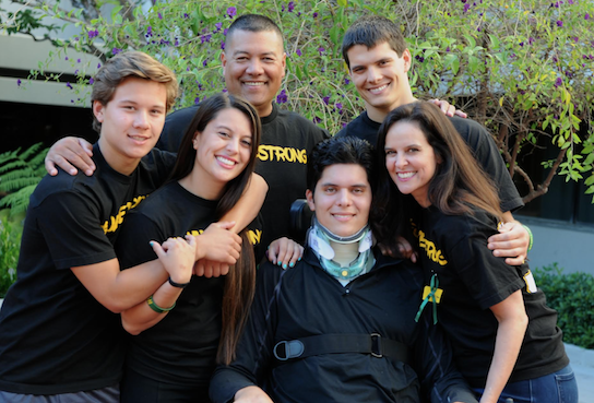 Jake pictured with his family at SCVMC in June 2016.