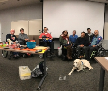 The eight presenters at Ability Hacks