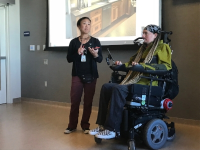 Ian Mackay and Kathy Kobayashi, OT at SCVMC