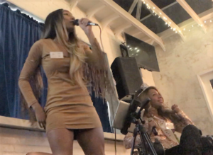 At our first-ever fundraising party, Robyn and Krystina Jackson got the evening started with a two-song set.