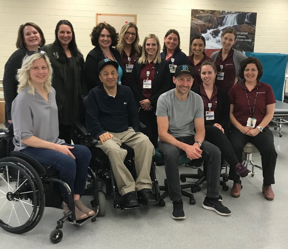 Char, Franklin and Nick and the Mercy Hospital rehab staff
