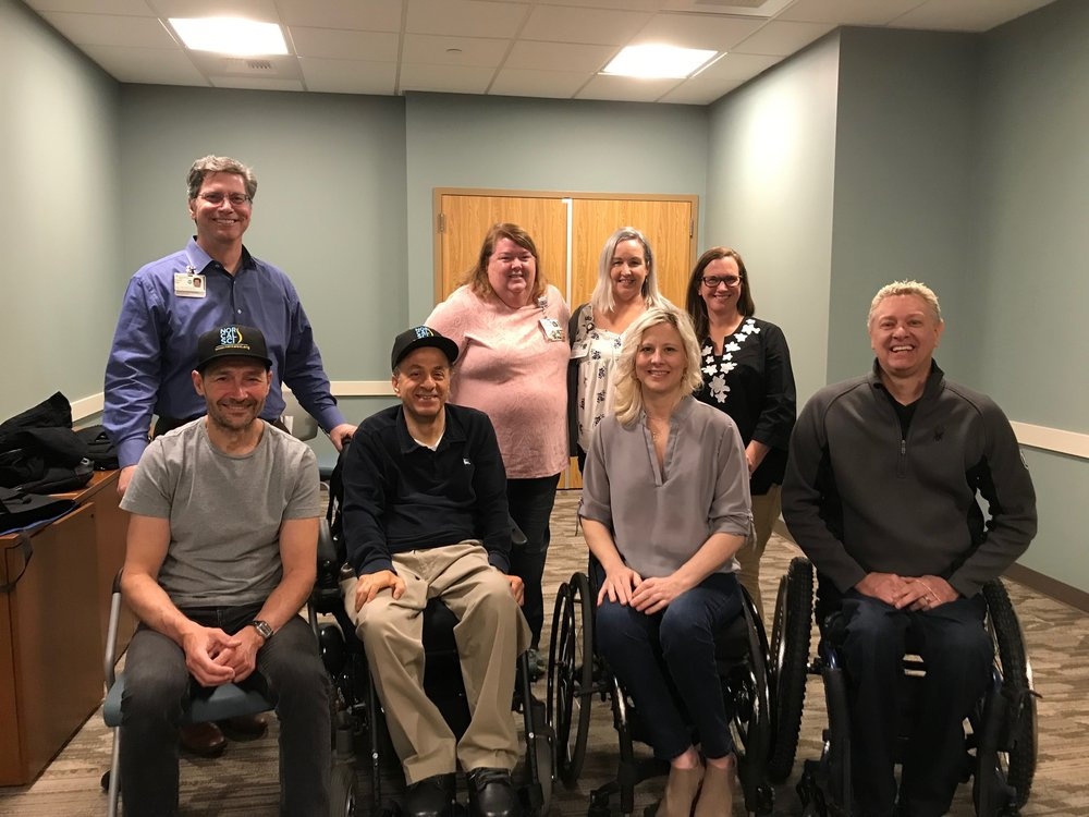 Nick, Franklin, Char and Todd with some of the rehab staff members at Sutter Roseville