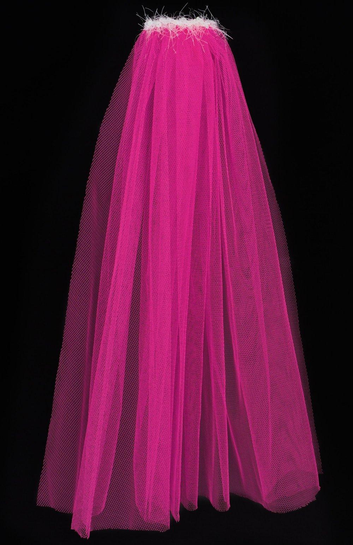 Neon pink hen party veil