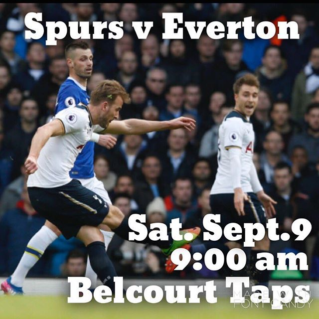 Game day.  Come join @nashvillespurs @belcourttaps Saturday, September 9, at 9:00 am for our match against Everton.  #itsgreattobeback #coys #thfc #ttid #tottenhamtillidie #yidarmy #pochapproves #tottenhamhotspur #gameday