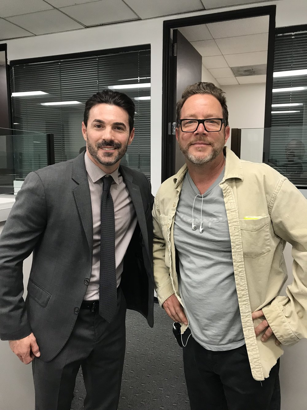 Josh Server (Left) with Director Tom Shell (Right)
