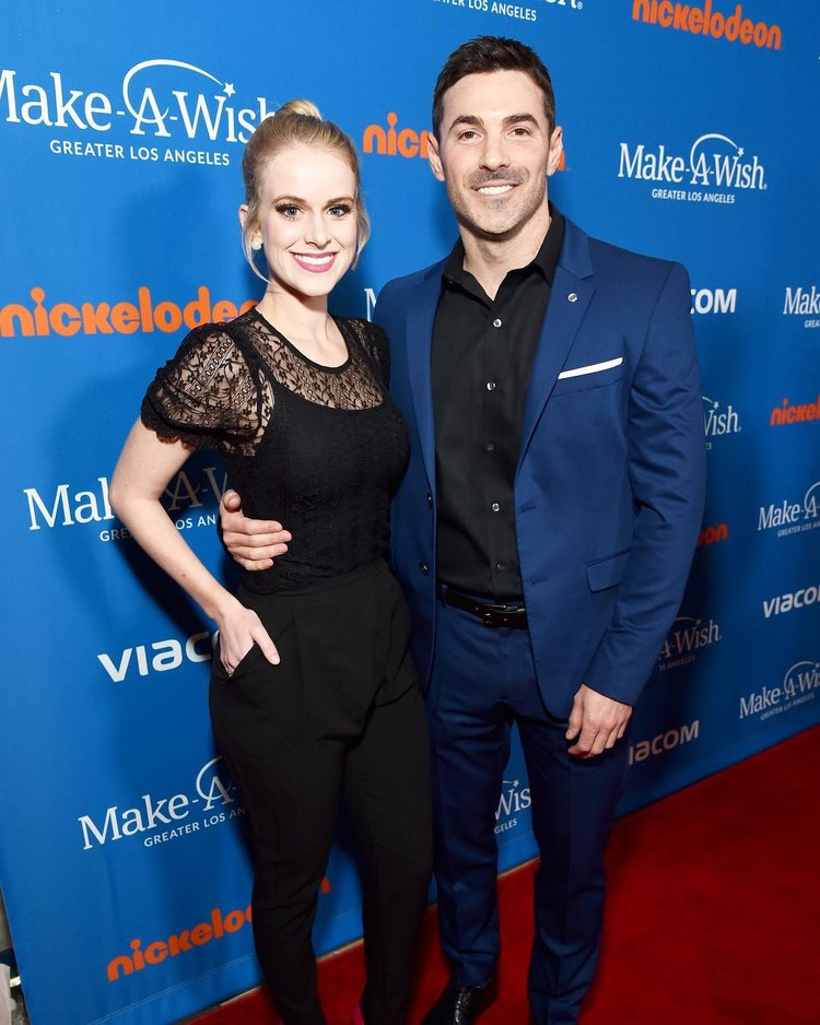 Josh and girlfriend Carlie Craig attend the Wish Gala 2018