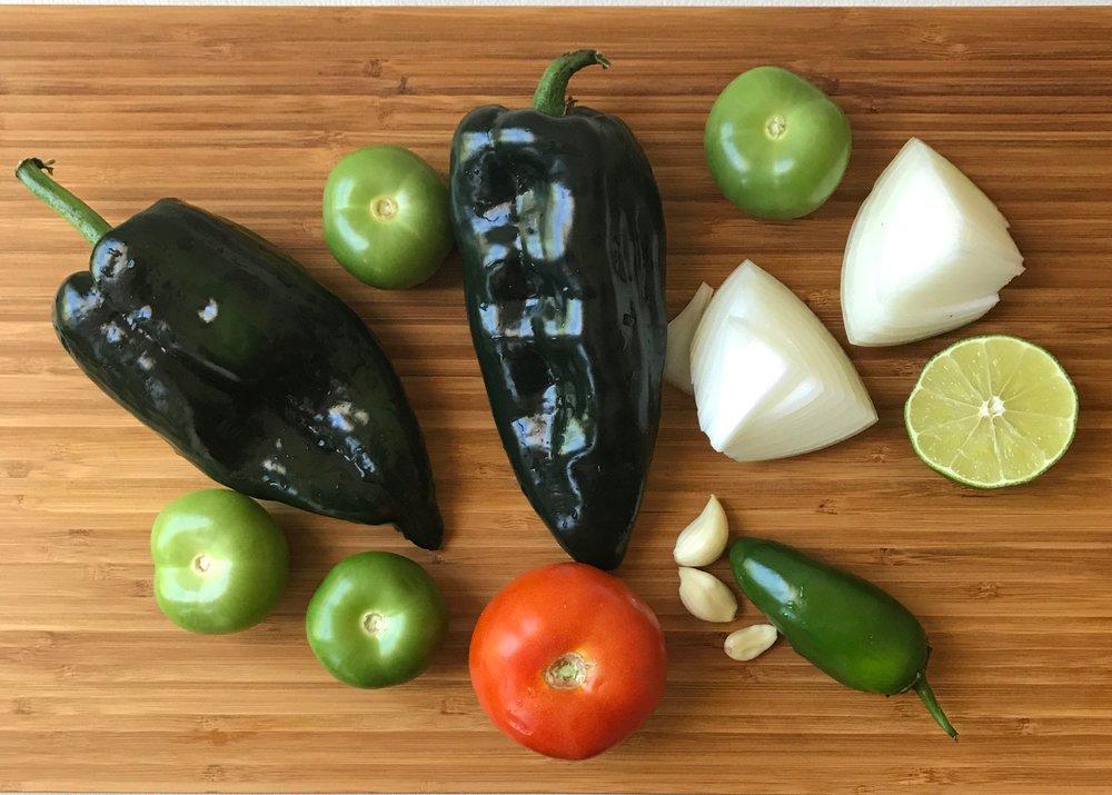 Purslane and black beans
