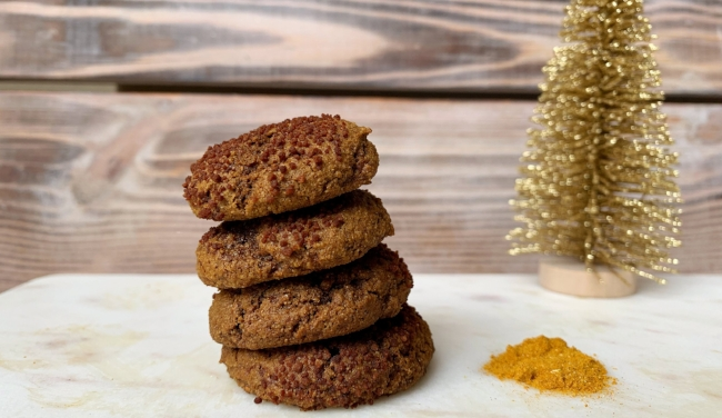 Ginger Molasses Cookie Recipe using Tumeric Golden Milk Herbal Blends - Stay Golden by Wild Sun Wellness