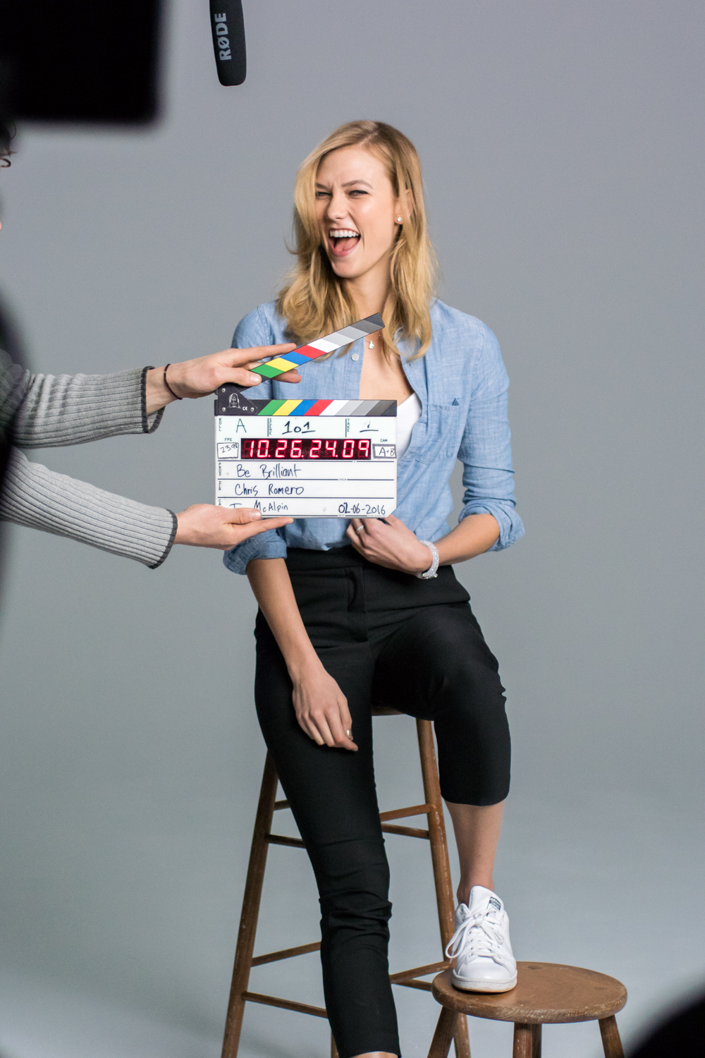 Karlie Kloss Swarovski Behind the Scenes Photography