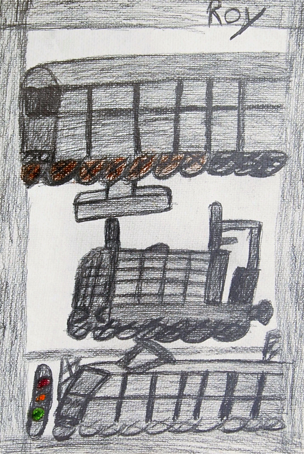 Untitled (Trains) Pencil on paper 29x42cm
