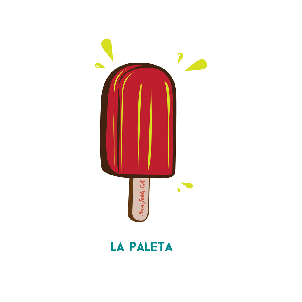 "LA PALETA $$$$   Welcome to SJ Creamery! Serving you a taste of the culture as we present to you our ""NEW"" paletas. ­Uniform in shape and mass-­produced, you can't go wrong with these ice cream treats as they are the newest development for ice cream innovation that will be taking over our communities. We have a lot of other paletas on the menu, but unfortunately, we have yet to find a way to alleviate the negative consequences that come with gentrification. So get them before they melt away!  Just remember…whether you're happy or sad, during good times and bad, until we can come together and take ownership, invest, and protect our communities…we can always count on a paleta, to eat our problems away."