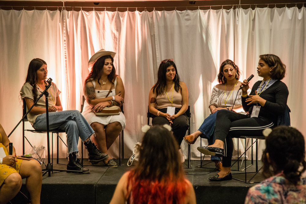 A music panel discussion by Chulita Vinyl Club, an all-womxn vinyl music collective. Photo by Solo Native