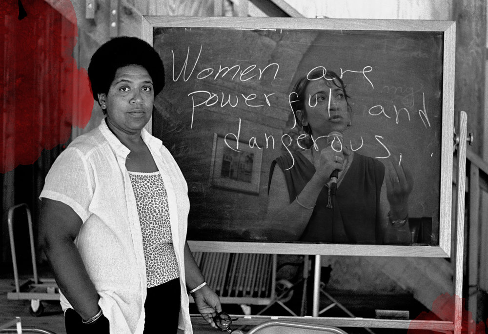 "Sister Outsider: A Palestinian Feminist on Audre Lorde and Black Feminist Thought, 1990s & 2016   ""Sister Outsider was a clean-clear mirror for myself."" Dr. Suhad Daher-Nashif, a Palestinian living within the borders of the Israeli state recalls the impact of the writings of Audre Lorde and other Black feminists on the Palestinian feminist movement, particularly in the early 1990s. ""Reading and understanding the Black women's experiences was a turning point for Palestinian women activists when they realized that their struggle couldn't be in cooperation with Israeli women, because the struggle is not against masculinity of a government, but against the masculinity of colonialism and occupation. It is against being occupied and colonized Palestinian women, and not simply oppressed citizens."" Of Lorde, Dr. Daher-Nashif says, ""The agency she gave to women affected my relationship with myself, with my daughters and also structured my framing of patriarchy within the Palestinian society in relation to the global one."""
