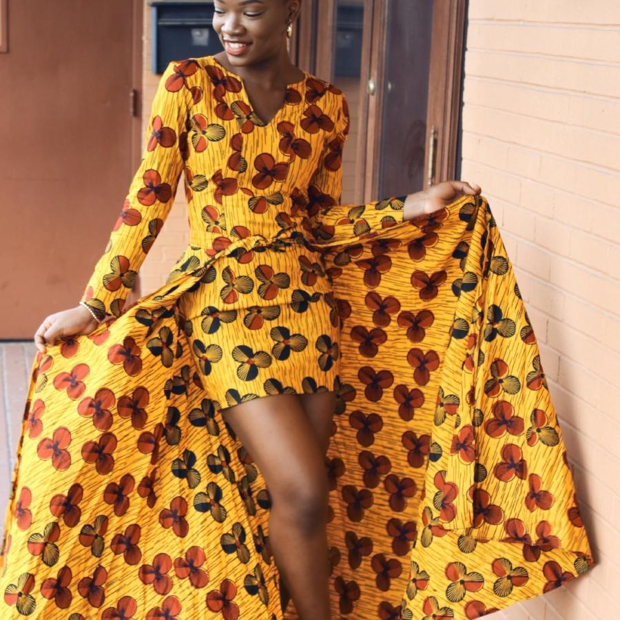 ankara style dress