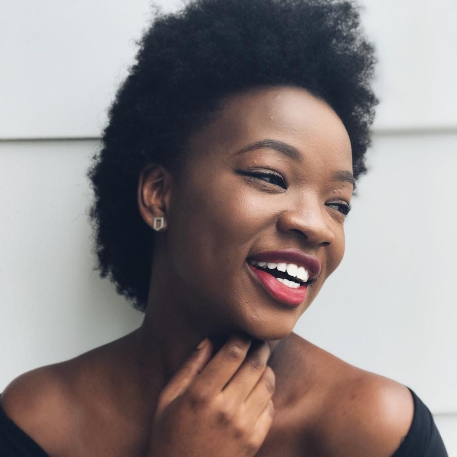 black girl-smiling-woman-melanin-magic
