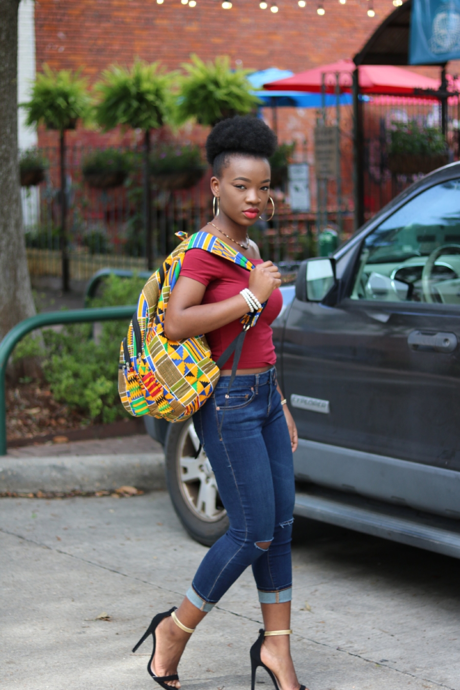 skinny jeans on black woman